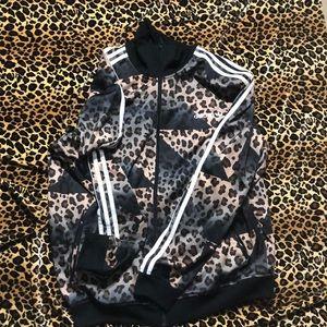 Adidas animal print track jacket
